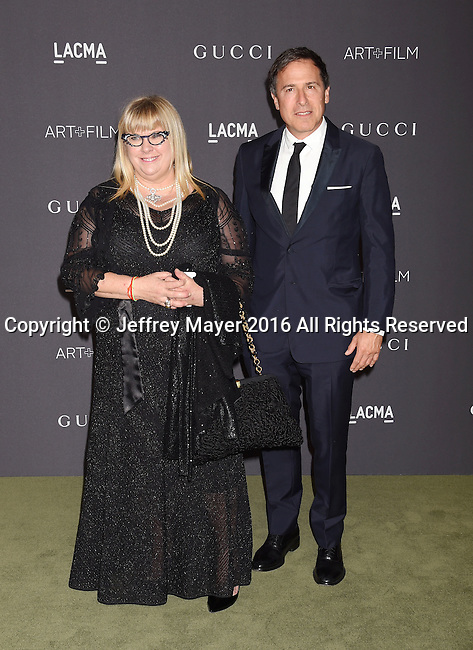 LOS ANGELES, CA - OCTOBER 29: Writer/director David O. Russell (R) and guest attend the 2016 LACMA Art + Film Gala honoring Robert Irwin and Kathryn Bigelow presented by Gucci at LACMA on October 29, 2016 in Los Angeles, California.