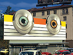 Billboard for the movie Tommy based on the record by the Who on the Sunset Strip in Los Angeles