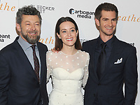 NEW YORK, NY - OCTOBER 09: Director Andy Serkis and actors Claire Foy and Andrew Garfield attend the 'Breathe' New York special screening at AMC Loews Lincoln Square 13 theater on October 9, 2017 in New York City.  <br /> CAP/MPI/JP<br /> &copy;JP/MPI/Capital Pictures