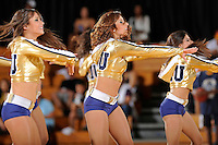 21 January 2012:  FIU's Golden Dazzlers entertain the crowd during halftime as the Florida Atlantic University Owls defeated the FIU Golden Panthers, 66-64, at the U.S. Century Bank Arena in Miami, Florida.
