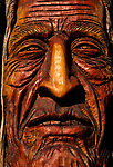Chief Kno-Tah Native American sculpture, Artist Peter Toth from the native American series, Trail of the Whispering Giants.