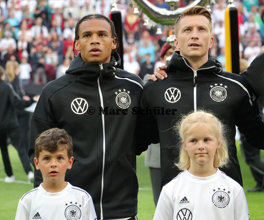 Leroy Sane (Deutschland Germany), Marco Reus (Deutschland, Germany) - 11.06.2019: Deutschland vs. Estland, OPEL Arena Mainz, EM-Qualifikation DISCLAIMER: DFB regulations prohibit any use of photographs as image sequences and/or quasi-video.