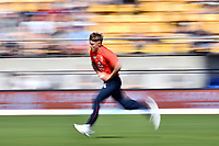 3rd November 2019, Wellington, New Zealand;  England's Sam Curran in bowling action during the second T20 International game between New Zealand and England, Westpac Stadium, Wellington, Sunday 3rd November 2019.  - Editorial Use