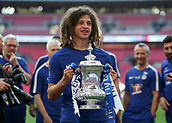 19th May 2018, Wembley Stadium, London, England; FA Cup Final football, Chelsea versus Manchester United; Ethan Ampadu of Chelsea poses with the FA Cup