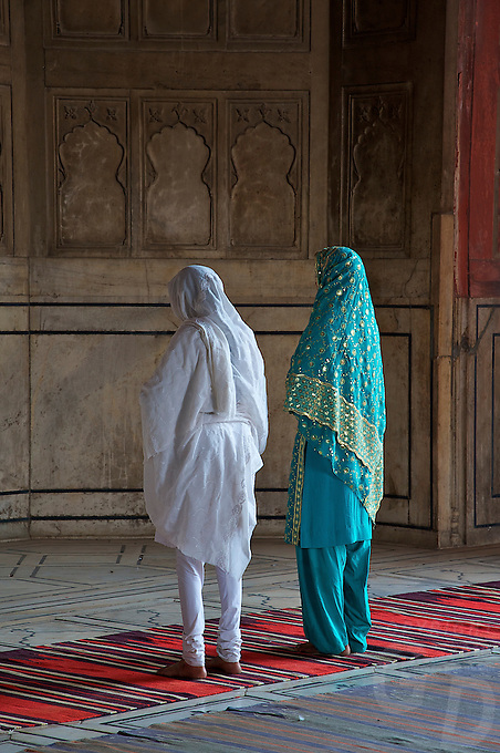 At the Jama Masjid Mosque Old part of Delhi, India