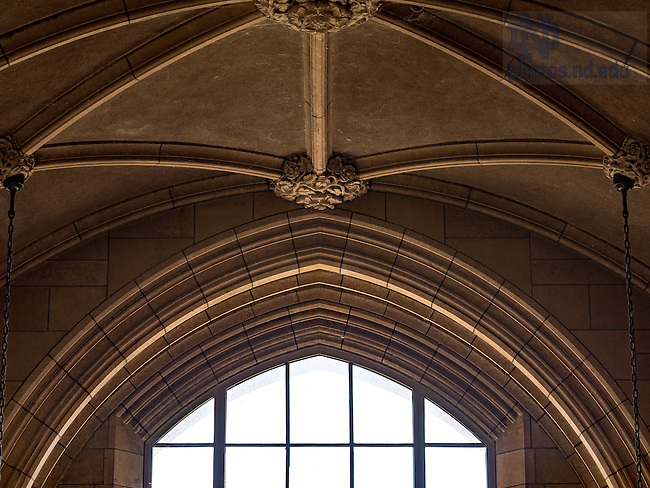 September 2, 2016; Interior detail of Rockne Memorial (Photo by Matt Cashore/University of Notre Dame)
