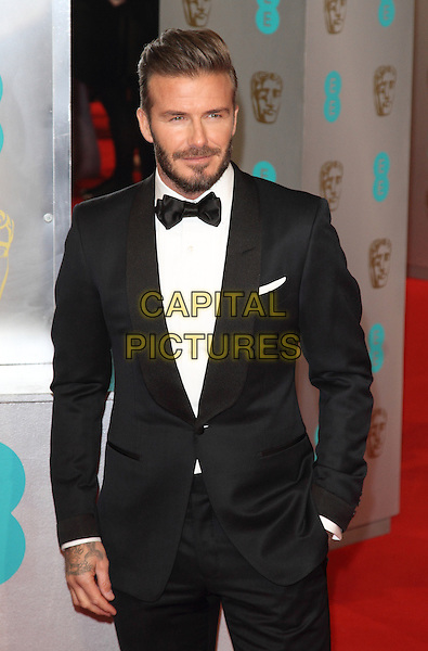 LONDON, ENGLAND - FEBRUARY 08: David Beckham attends the EE British Academy Film Awards at The Royal Opera House on February 8, 2015 in London, England<br /> CAP/ROS<br /> &copy;Steve Ross/Capital Pictures