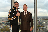 Tommy Fury (L) and Frank Warren during a Press Conference at the BT Tower on 11th November 2019