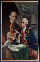 An 18th century portrait of two men
