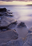 Europe, FRA, France, Brittany, Finistere, St. Tugen, Typical Landscape, Rocky Coast at twilight....[ For each utilisation of my images my General Terms and Conditions are mandatory. Usage only against use message and proof. Download of my General Terms and Conditions under http://www.image-box.com or ask for sending. A clearance before usage is necessary...Material is subject to royalties. Each utilisation of my images is subject to a fee in accordance to the present valid MFM-List...Contact | archive@image-box.com | www.image-box.com ]