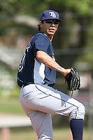 March 19th 2008:  Jino Gonzalez of the Tampa Bay Devil Rays minor league system during Spring Training at the Raymond A. Naimoli Complex in St. Petersburg, FL.  Photo by:  Mike Janes/Four Seam Images