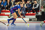 Mannheim, Germany, January 03: During the 1. Bundesliga women indoor hockey match between TSV Mannheim and Mannheimer HC on January 3, 2020 at Primus-Valor Arena in Mannheim, Germany. Final score 4-4. (Photo by Dirk Markgraf / www.265-images.com) *** Charlotte Gerstenhoefer #28 of Mannheimer HC