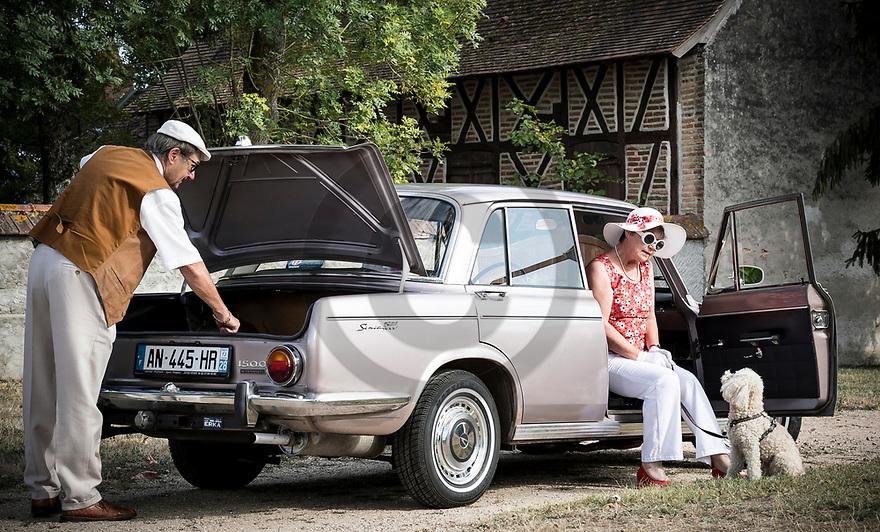 4/09/18 - LUSIGNY - ALLIER - FRANCE - Essais SIMCA 1500 en boite automatique de 1966 - Photo Jerome CHABANNE
