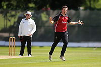 Luke Hollman of NMCC celebrates taking a wicket during North Middlesex CC vs Hampstead CC, Middlesex County League Cricket at Park Road on 25th May 2019