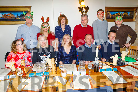 The staff of the Kerry County Council enjoying their Christmas party in Bella Bia on Friday.<br /> Seated l to r: Deirdre Power, Joanne Horgan, Caroilín Liston, Sean and John O'Sullivan and Adam Stack.<br /> Back l to r: Kevin Boyle, Sandy McSweeney, Niamh Fannon, James Keliher, Shane Cavanagh and Mike O'Donoghue