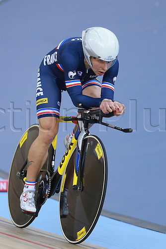 02.03.2016. Lee Valley Velo Centre, London, England. UCI Track Cycling World Championships Womens Individual Pursuit.  Elize Delzenne (France)