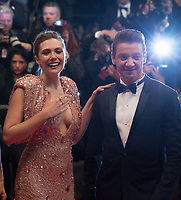 Elizabeth Olsen, Jeremy Renner at the The Square premiere for at the 70th Festival de Cannes.<br /> May 20, 2017  Cannes, France<br /> Picture: Kristina Afanasyeva / Featureflash