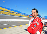 Jun. 21, 2008; Newton, IA, USA; IRL driver Helio Castroneves during practice for the Iowa Corn Indy 250 at the Iowa Speedway. Mandatory Credit: Mark J. Rebilas-