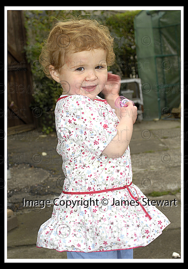 25/10/2007       Copyright Pic: James Stewart.File Name : sct_jspa06_rebekah_dunsmore.MIRACLE TODDLER REBEKAH DUNSMORE WHO TOOK PART IN A CHARITY WALK RAISING £1300 FOR THE MENINGITIS TRUST.....(see copy from George Mair).....James Stewart Photo Agency 19 Carronlea Drive, Falkirk. FK2 8DN      Vat Reg No. 607 6932 25.Office     : +44 (0)1324 570906     .Mobile   : +44 (0)7721 416997.Fax         : +44 (0)1324 570906.E-mail  :  jim@jspa.co.uk.If you require further information then contact Jim Stewart on any of the numbers above........