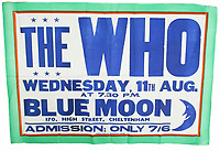 Once in the Blue Moon...  Poster advertising from one of The Who's earliest performances has sold
