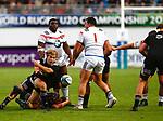 Xavier Roe, New Zealand 7 v 16 France, Stade D'Honneur du Parc des Sports et de L'Amitie, Narbonne France. World Rugby U20 Championship 2018. Photo Martin Seras Lima