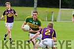 Side step<br /> ------------<br /> Brendan O'Sullivan cuts inside Wexfords Paraic O'Keeffe in the All Ireland junior championship semi final clash last Saturday in Fraher field,Dungarvan