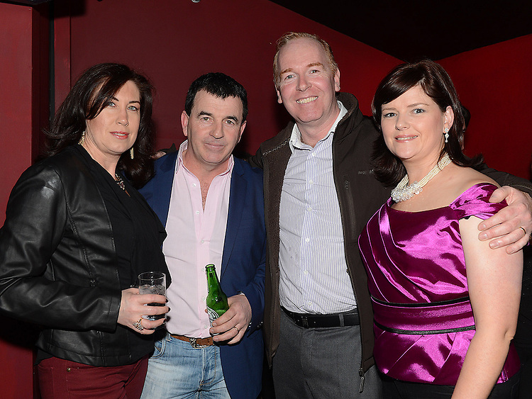 Bill and Sonya Kelly and Maurice and Angela Townley pictured at the benefit night for DJ Tayo Sheridan in Galaxy Night Club. Photo:Colin Bell/pressphotos.ie