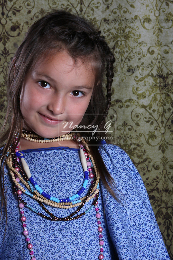 Native American Lakota Sioux Indian girl