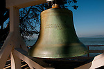 Bronze Bell, Immigration Station, Angel Island, near San Francisco, California, USA.  Photo copyright Lee Foster.  Photo # california108153
