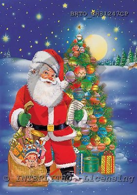 Alfredo, CHRISTMAS SANTA, SNOWMAN, paintings, BRTOCH31247CP,#X#