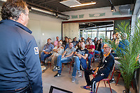 Almere, Netherlands, 24 september 2016, fotoshoot Jong Oranje, parents get instructtions by coach Alex Rijnders<br /> Photo: Tennisimages.com/Henk Koster