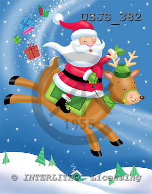 Janet, CHRISTMAS SANTA, SNOWMAN, paintings, USJS382,#x# Weihnachtsmänner, Schneemänner, Weihnachen, Papá Noel, muñecos de nieve, Navidad, illustrations, pinturas