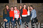 Pobalscoil Chorca Dhuibhne students Sorcha Begley, Chloe O'Sullivan, Emily Hickey Brosnan, Chenoa Flaherty, Cearbhla Ruiséal Ní Dhubhda, Rachel O'Sullivan and Sorcha Tracey welcoming the PCD footballers after winning the Corn Uí hÓgain All-Ireland in Croke Park on Saturday night.