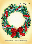 Randy, CHRISTMAS SYMBOLS, WEIHNACHTEN SYMBOLE, NAVIDAD SÍMBOLOS, paintings+++++Wreath-with-Shamrocks,USRW221,#xx#