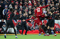 11th March 2020; Anfield, Liverpool, Merseyside, England; UEFA Champions League, Liverpool versus Atletico Madrid;  Atletico Madrid manager Diego Simeone follows the action from the touchline