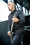 Clint Lowery of Sevendust performs during the 2013 Rock On The Range festival at Columbus Crew Stadium in Columbus, Ohio.