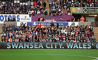 Pictured: The new LED screens infront of supporters. Tuesday 26 August 2014<br /> Re: Capital One Cup, Swansea City FC v Rotherham at the Liberty Stadium, south Wales