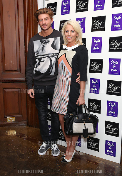 Lydia Bright and Tom KIlbey arriving for the Style for Stroke Party, 5 Cavendish Square, London. 02/10/2012 Picture by: Henry Harris  / Featureflash