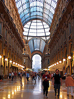 People in the Galleria Vittorio Emanuele, il Salotto di Milano, Milan, Ital