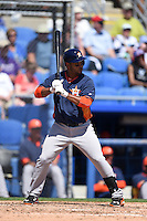 Houston Astros infielder Gregorio Petit (3) during a Spring Training game against the Toronto Blue Jays on March 9, 2015 at Florida Auto Exchange Stadium in Dunedin, Florida.  Houston defeated Toronto 1-0.  (Mike Janes/Four Seam Images)