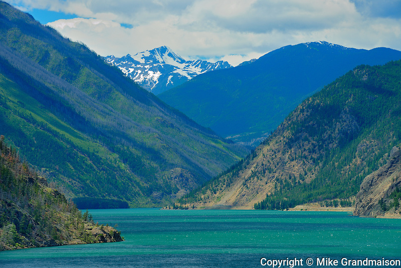 Seton Lake and mountains (Chilcotin Ranges).  Interior Plateau. <br /> Lillooet<br /> British Columbia<br /> Canada