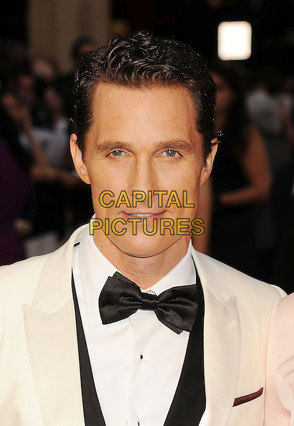 HOLLYWOOD, CA- MARCH 02:  Actor Matthew McConaughey attends the 86th Annual Academy Awards held at Hollywood &amp; Highland Center on March 2, 2014 in Hollywood, California.<br /> CAP/ROT/TM<br /> &copy;Tony Michaels/Roth Stock/Capital Pictures