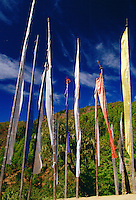 Buddhist prayer flags in Bhutan