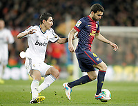 FC Barcelona's Cesc Fabregas (r) and Real Madrid's Angel Di Maria during Copa del Rey - King's Cup semifinal second match.February 26,2013. (ALTERPHOTOS/Acero) /Nortephoto