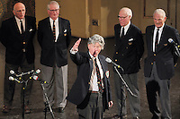 Whiffenpoof Alumni performing at the January 31 Concert, Century on a Spree: The Whiffenpoof Centennial (1909-2009)