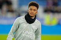 4th January 2020; King Power Stadium, Leicester, Midlands, England; English FA Cup Football, Leicester City versus Wigan Athletic; Demarai Gray of Leicester City during the pre-match warm-up - Strictly Editorial Use Only. No use with unauthorized audio, video, data, fixture lists, club/league logos or 'live' services. Online in-match use limited to 120 images, no video emulation. No use in betting, games or single club/league/player publications