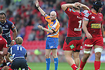 Referee Neil Paterson.RaboDirect Pro12.Scarlets v Leinster.Parc y Scarlets.01.09.12.©Steve Pope