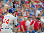Chicago Cubs first baseman Anthony Rizzo (44) bats in the ninth inning against the Washington Nationals at Nationals Park in Washington, D.C. on Wednesday, June 15, 2016.  During the at-bat Rizzo connected for a two run home run that temporarily gave the Cubs the lead in the game.  The Nationals won the game 5 - 4 in 12 innings.<br /> Credit: Ron Sachs / CNP