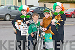 MOTORBIKE RIDING: Fancy dress in the Causeway St Patrick Day Parade on Thursday, L-r: Valerie Kiely, Sean Sheehan, Leanne Sheehan and Ruiby O'Riordan.................... . ............................... ..........