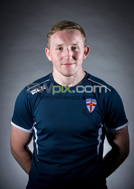 Picture by Allan McKenzie/SWpix.com - 29/06/16 - Rugby League - England Rugby League Academy Headshots - Challenge4Change, Manchester, England - Conor Fitzsimmons.